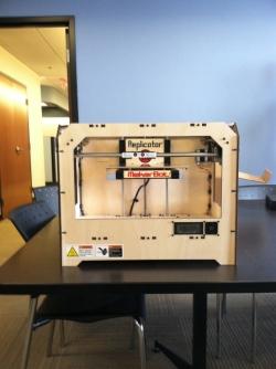 MakerBot set-up in progress